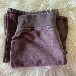 Victorias Secret lounge pants sz M wide leg purple